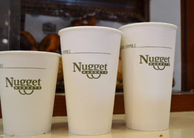 Nugget Novato Custom Label Coffee Cups